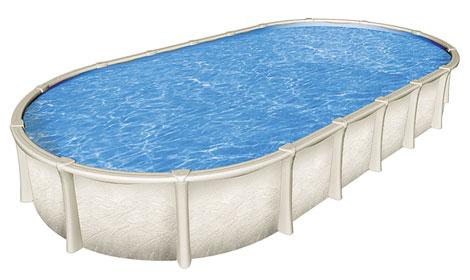 Овальный сборный бассейн Impact без контрфорсов