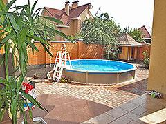 Фото установленного круглого сборного бассейна Esprit Serenada (Черкассы)